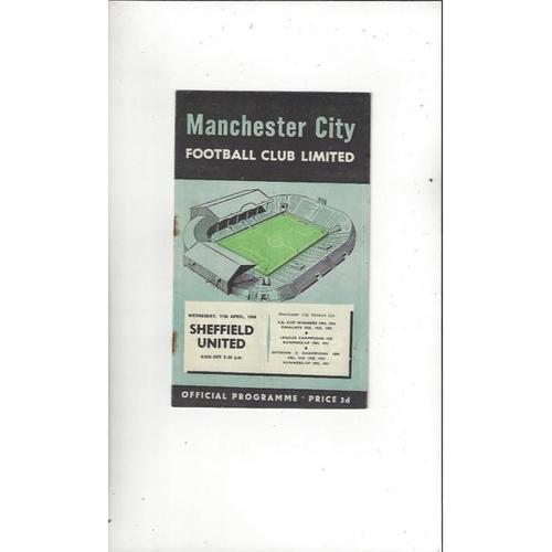 1955/56 Manchester City v Sheffield United Football Programme