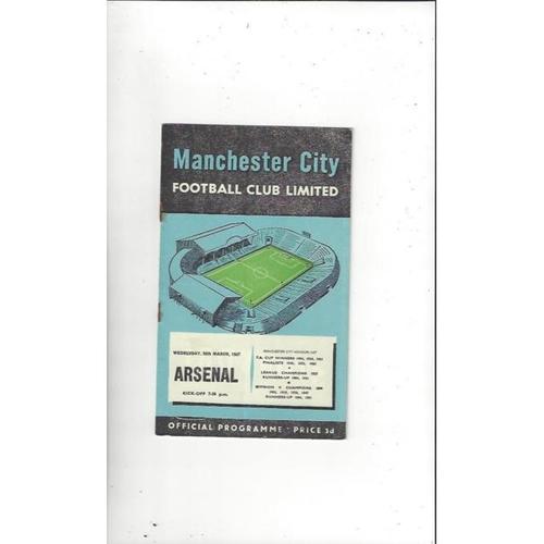 1956/57 Manchester City v Arsenal Football Programme