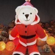 Bo Bear Santa Suit Crochet Pattern