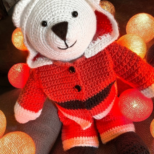 Bo Bear Santa Suit Crochet Pattern