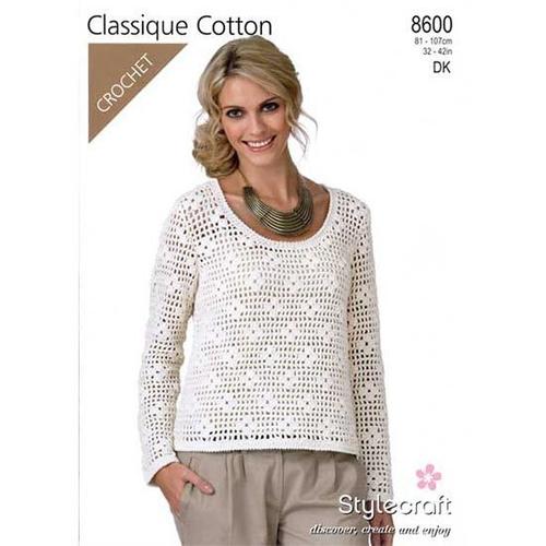 8600 Classique Cotton DK Pattern