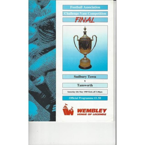 1989 Sudbury Town v Tamworth FA Vase Final Football Programme