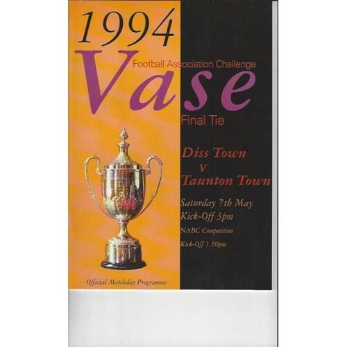 FA Vase Final Football Programmes