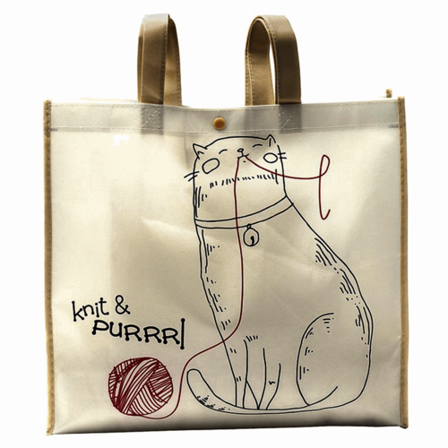 Knit and Purrl Tote Bag
