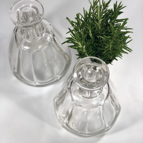 Pair of Baccarat crystal wine or water carafes