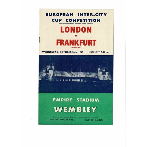 1955 London v Frankfurt Inter - Cities Fairs Cup Final
