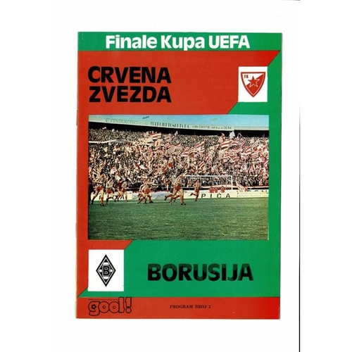 1979 Red Star v Borussia MG UEFA Cup Final Football Programme