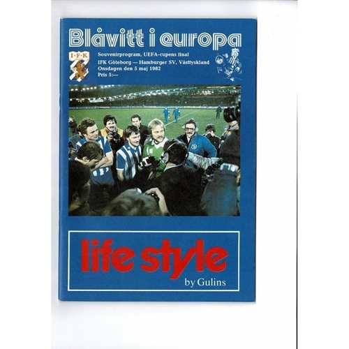 1982 Goteborg v Hamburg UEFA Cup Final Football Programme
