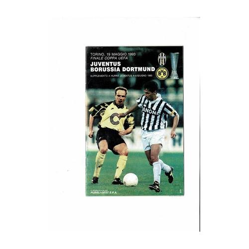 1993 Juventus v Borussia Dortmund UEFA Cup Final Football Programme
