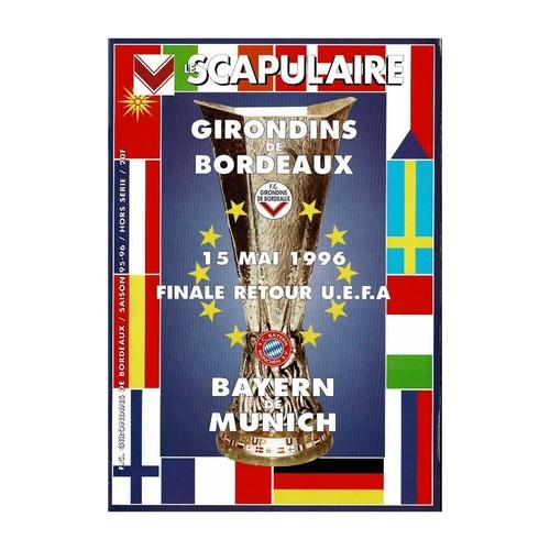 1996 Bordeaux v Bayern Munich UEFA Cup Final Football Programme