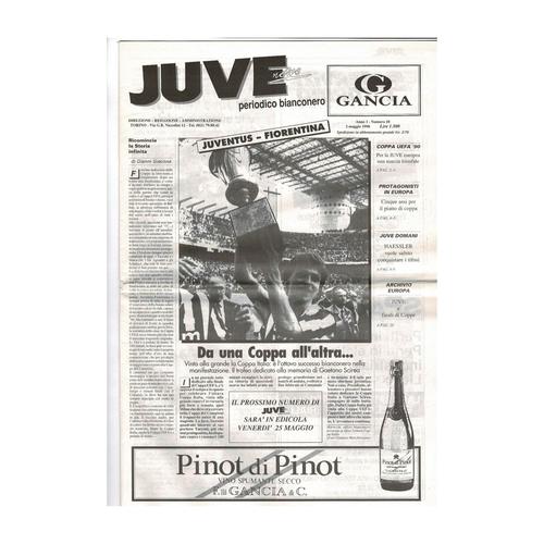 1990 Juventus v Fiorentina UEFA Cup Final Football Programme