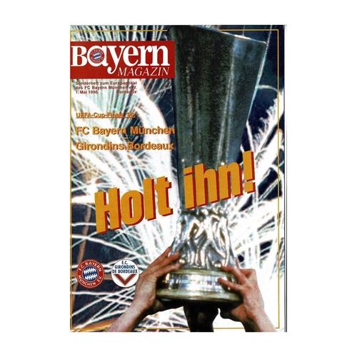1996 Bayern Munich v Bordeaux UEFA Cup Final Football Programme