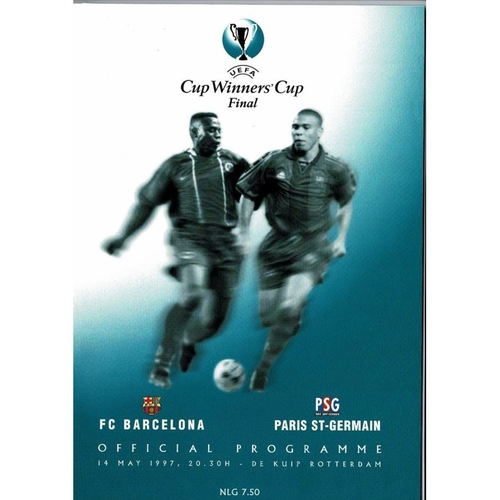 1997 Barcelona v Paris St Germain European Cup Winners Cup Final Football Programme
