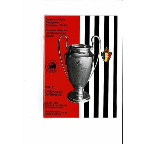 1985 Liverpool v Juventus European Cup Final Football Programme
