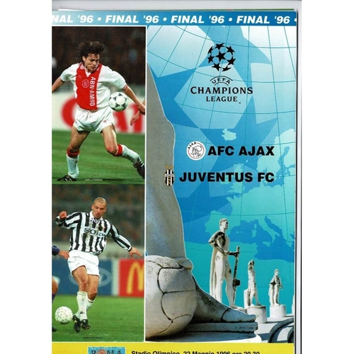 1996 Ajax v Juventus European Cup Final Football Programme