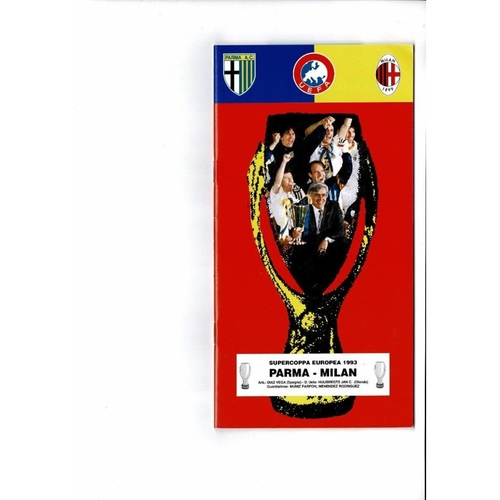 1994 Parma v AC Milan Super Cup Final Football Programme