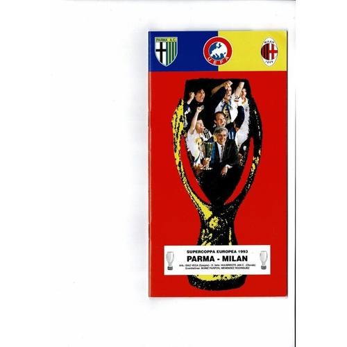 1993 Parma v AC Milan Super Cup Final Football Programme