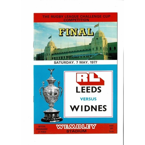 1977 Leeds v Widnes Rugby League Challenge Cup Final