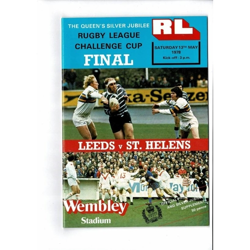 1978 Leeds v St Helens Rugby League Challenge Cup Final