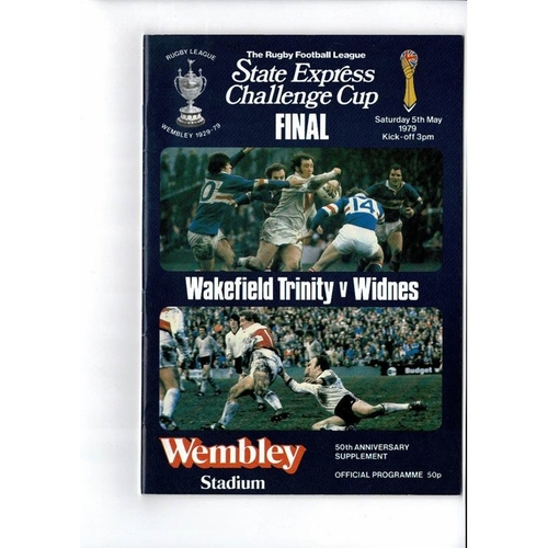 1979 Wakefield Trinity v Widnes Rugby League Challenge Cup Final