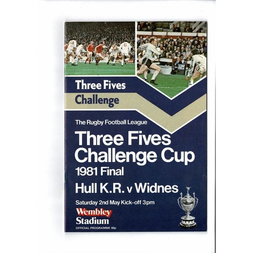 1981 Hull KR v Widnes Rugby League Challenge Cup Final