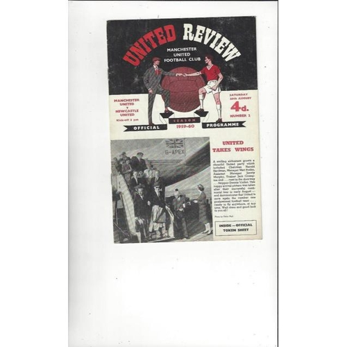 1959/60 Manchester United v Newcastle United Football Programme