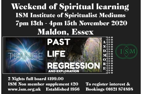 Weekend Seminar on Trance, Past Life Regression and Exploration