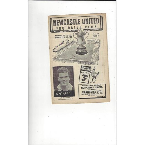 Newcastle United Home Football Programmes