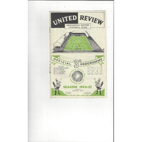 1954/55 Newcastle United v Manchester City Football Programme