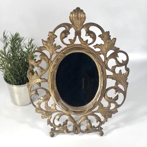 Victorian ormolu Rococo table mirror picture frame