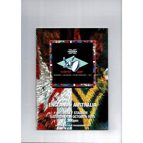1995 England v Australia Rugby League World Cup Programme