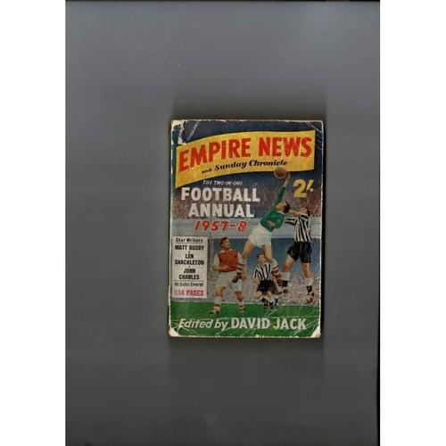 1957/58 Empire News & Sunday Chronicle Football Annual