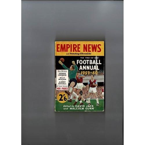 1959/60 Empire News & Sunday Chronicle Football Annual