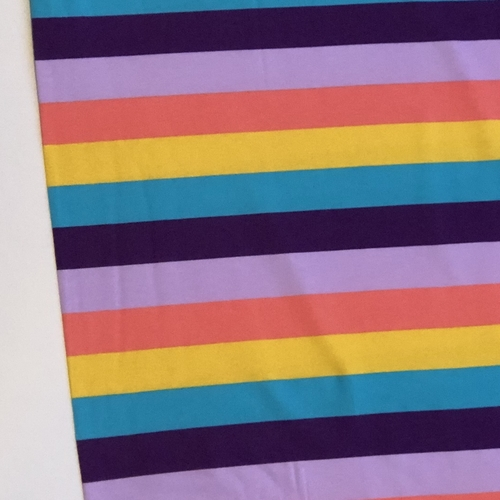 Tilly And The Buttons Multi Colour Stripes Jersey