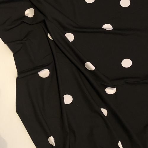 Tilly And The Buttons White And Black Jumbo Spot Jersey