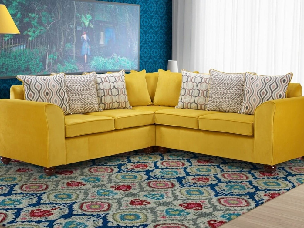2 CORNER 2 JASPER SOFA IN PLUSH GOLD