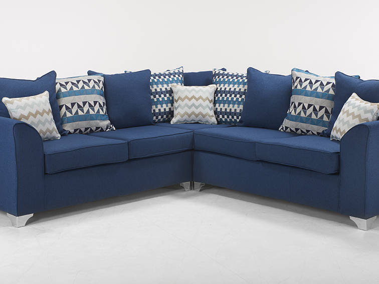 2 CORNER 2 JASPER SOFA IN MARINE BLUE TWEED