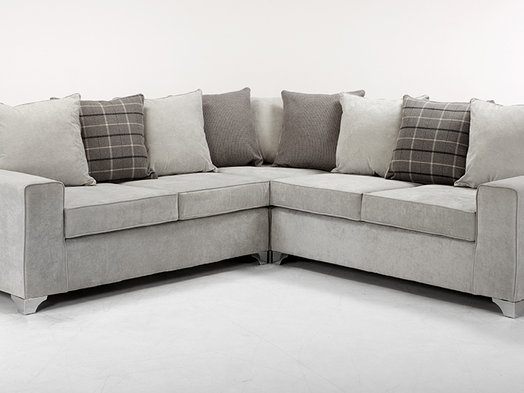 2 CORNER 2  FESTIVAL SOFA IN GREY KEIRA