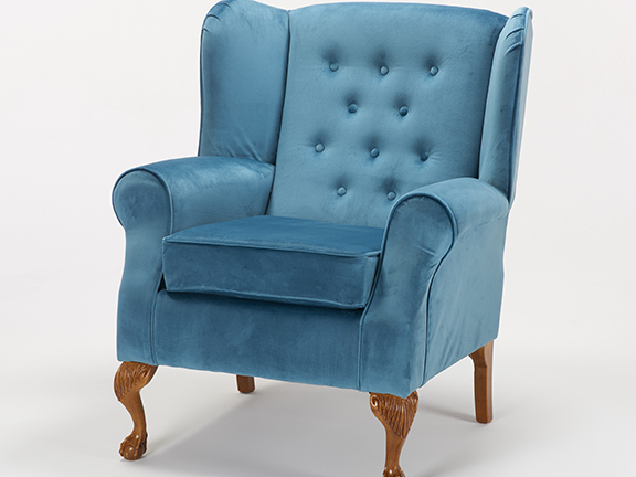 CHESTERFIELD CHAIR  IN PLUSH TEAL