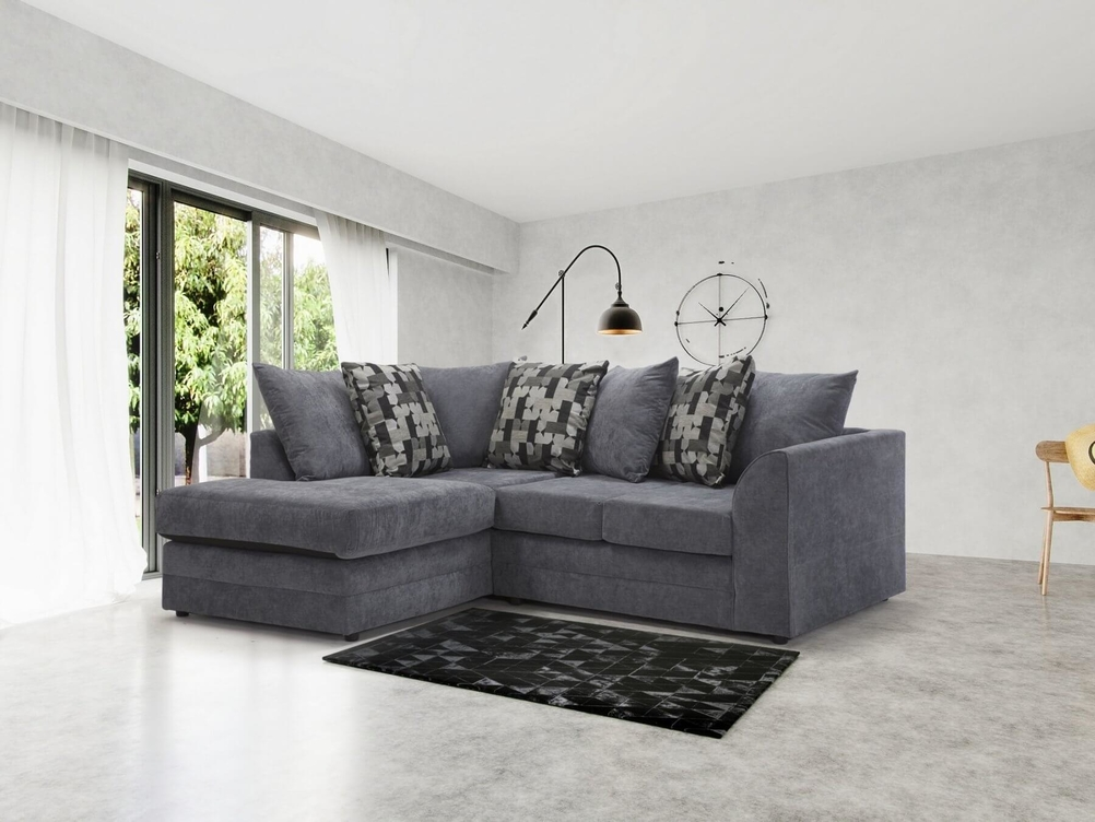 1 CORNER 2 OR 2CORNER 1 TWICKHENAM SOFA IN PEWTER KEIRA