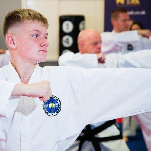 Martial Arts and Taekwondo directing young men