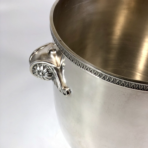 French scroll handle silver plated champagne wine cooler bucket