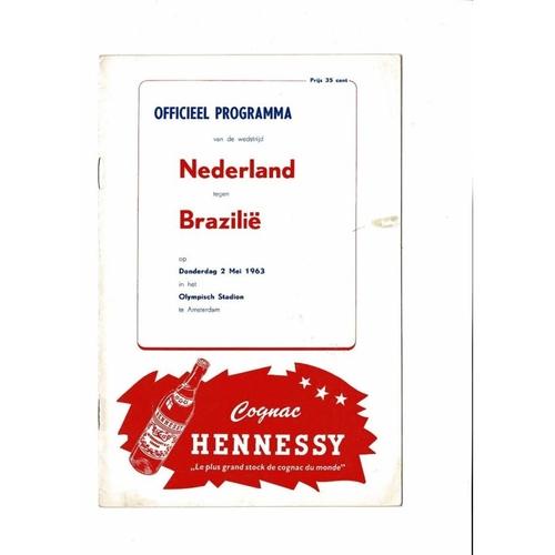 Holland v Brazil Football Programme 1963