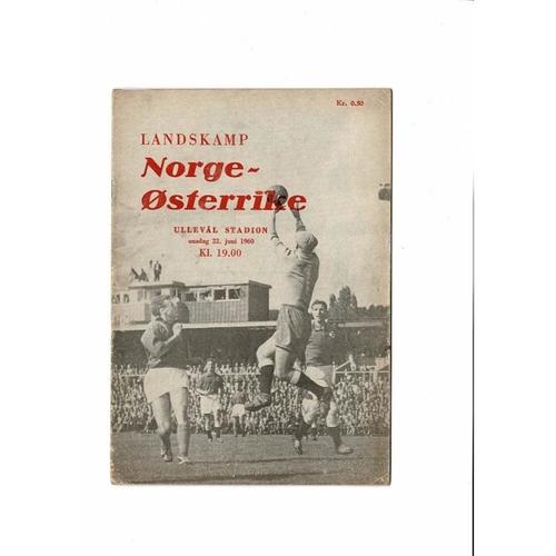 Norway v Austria Football Programme 1960
