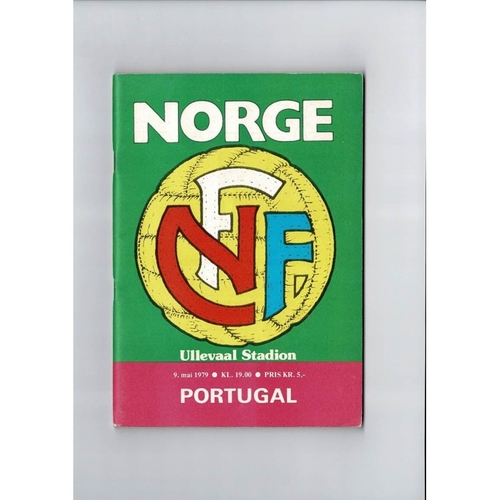 Norway v Portugal Football Programme 1979