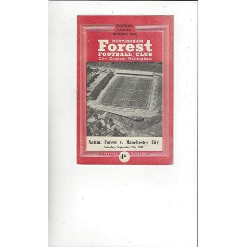 Nottingham Forest Home Football Programmes
