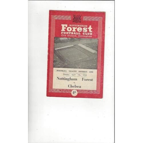 1957/58 Nottingham Forest v Chelsea Football Programme