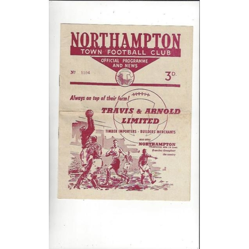 1959/60 Northampton Town v Oldham Athletic Football Programme