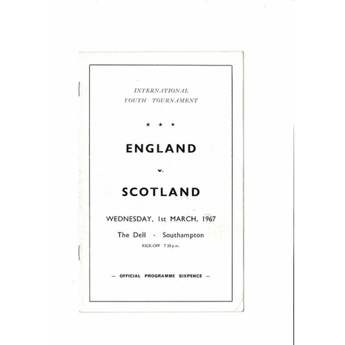 1967 England v Scotland Youth International Football Programme