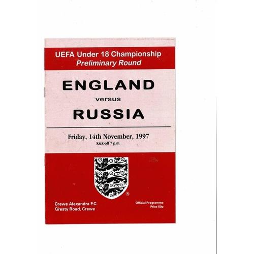 Youth International Football Programmes